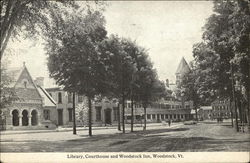 Library, Courthouse and Woodstock Inn