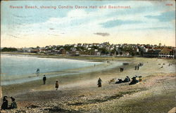 Revere Beach showing Condits Dance Hall and Beachmont