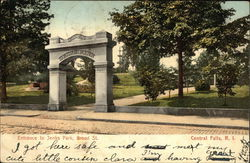 Entrance to Jenks Park on Broad Street