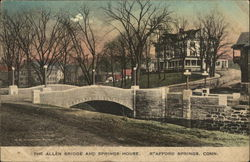 The Allen Bridge and Springs House Postcard