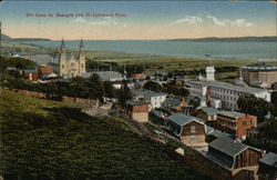 Ste. Anne de Beaupre and St. Lawrence River