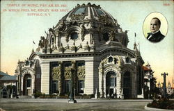 Temple of Music, Pan. Am. Ex. 1901 in which Pres. McKinley was Shot