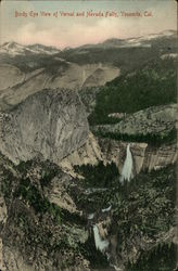 Birds Eye View of Vernal and Nevada Falls