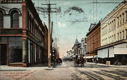 Corner Main and American Sts., Looking West on Main St.