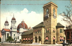 Post Office and St. Joseph's Cathedral Postcard