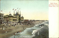 Bath House and Ocean Front Postcard