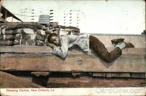 Sleeping Darkey, New Orleans, La. Black Americana