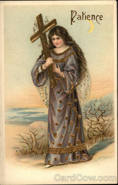 A Woman Carrying a Cross Angels