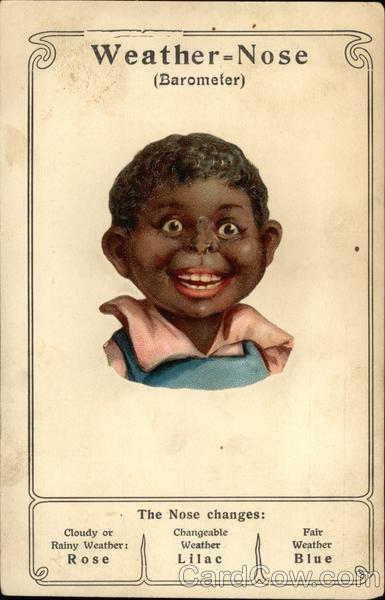 Black Boy with Barometer Nose Black Americana
