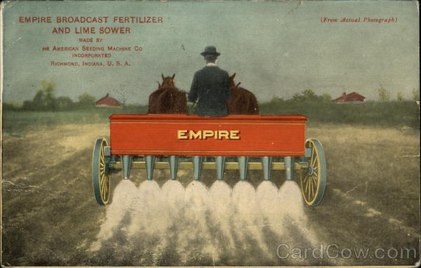 Empire Broadcast Fertilizer and Lime Sower Advertising