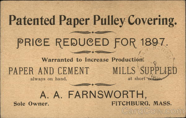 Patented Paper Pulley Covering Advertising