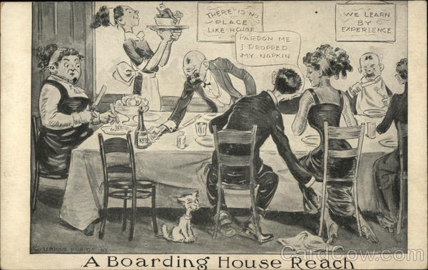 A Boarding House Reach at the Dinner Table Comic