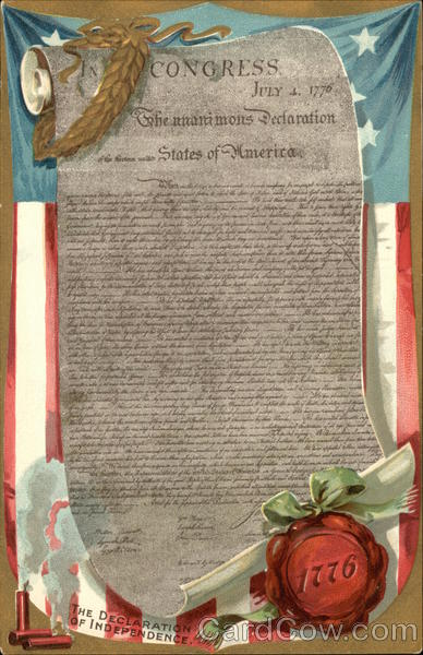 The Declaration of Independence Patriotic