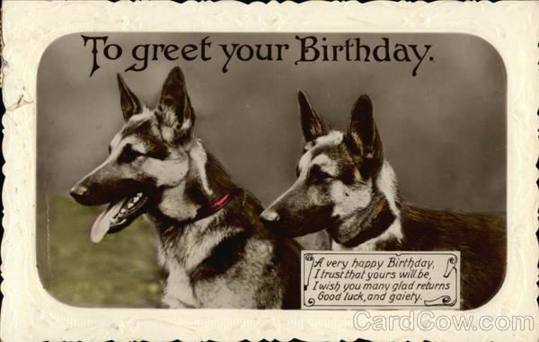 German Shepherd Greeting Cards | wblqual.com