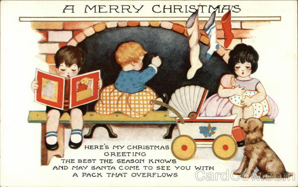 A Merry Christmas - Here's My Christmas Greeting Children