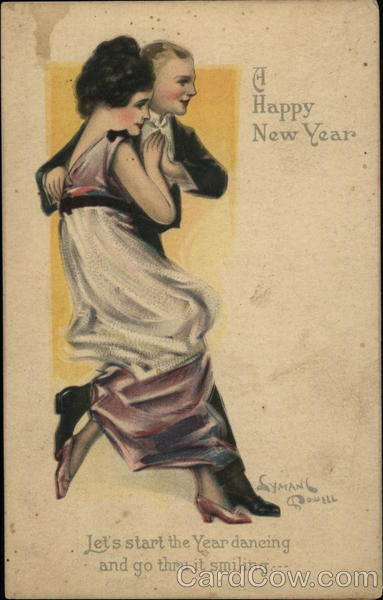 A Happy New Year - Elegant Couple Dancing Lyman Powell