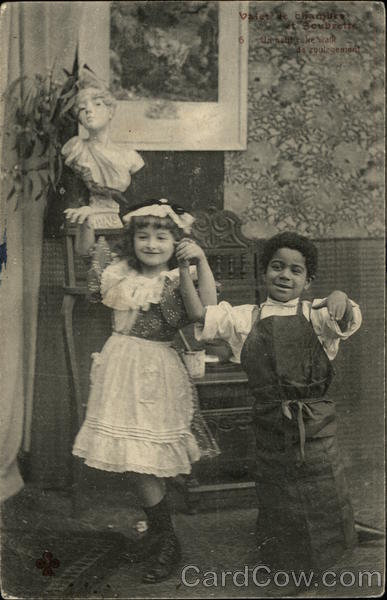 Boy and Girl Dancing Together Black Americana