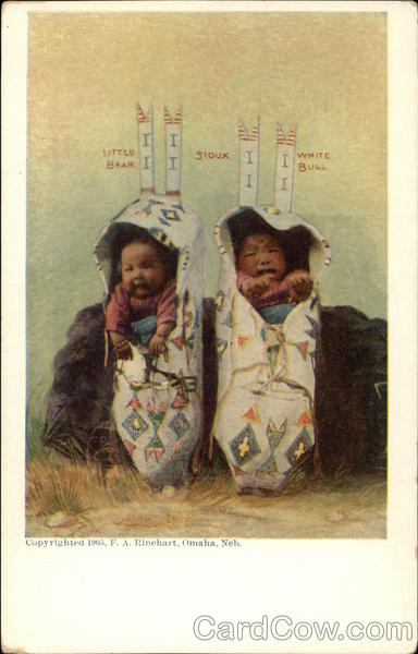 Sioux Babies Little Bear and White Bull Native Americana