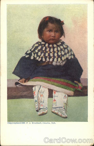 American Indian Child in Native Dress Native Americana