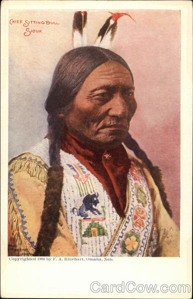 Chief Sitting Bull, Sioux Native Americana