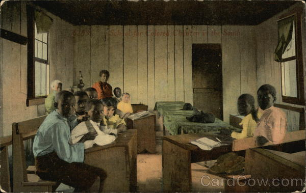 School for Colored Children in the South Black Americana