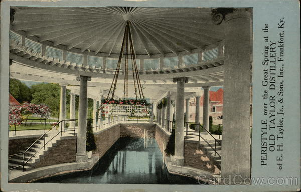 Peristyle Over the Great Spring at the Old Taylor Distillery Frankfort Kentucky