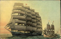 300 Years of Progress in Sailing Vessels - The Half Moon and the Preussen