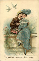 Couple with Flowers and Birds