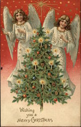 Two Angels, Christmas Tree