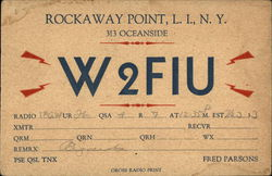 Ham Radio Station W2FIU, Rockaway Point, New York