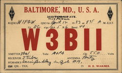 Baltimore, MD W3BII Ham Radio Station