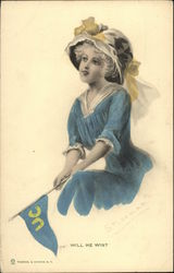 University of California Girl with Pennant