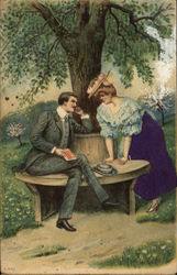 Couple on Bench under Tree