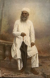 Parsi Priest in White Robes