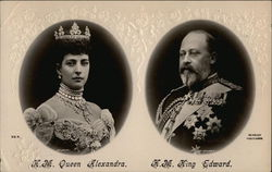 Portrait of H.M Queen Alexandra and H.M. King Edward