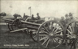 Soldiers with Artillery at Camp Devens, Mass