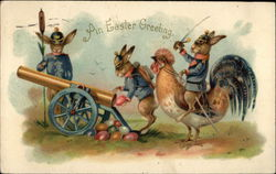 An Easter Greeting - Military Bunnies