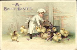 A Happy Easter with Boy Chef and Baby Chicks