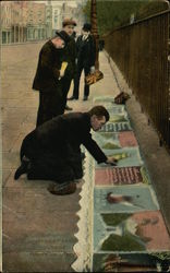 Pavement Artist Outside Tower of London