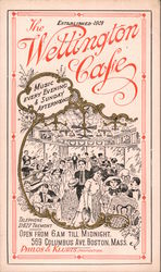 The Wellington Cafe, Established 1901 Postcard