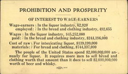 Prohibition and Prosperity - Of Interest to Wage-Earners
