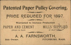 Patented Paper Pulley Covering