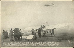 Arthur Stone Starting Trip Ending in Accident, Sat. August 12, 1911