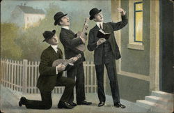 Three Men Singing Under Window