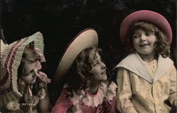 Three Girls Wearing Hats