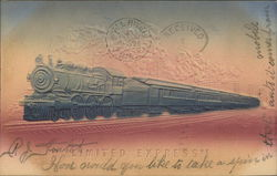 Limited Express Train Embossed Card