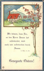 Home by Mountain, Bible Verse - German Language