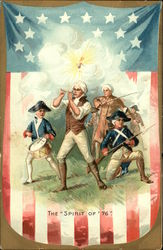 The Spirit of '76 - American Flag, Fife & Drum, Soldiers