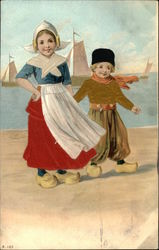 Two Dutch Children by the Water