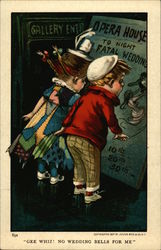Children Looking at an Opera House Poster